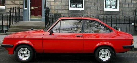 Mark McCormick's Escort outside his home in Ireland